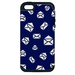 Envelope Letter Sand Blue White Masage Apple Iphone 5 Hardshell Case (pc+silicone) by Alisyart