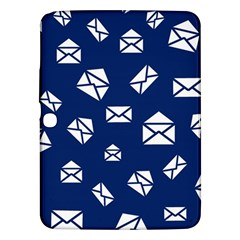 Envelope Letter Sand Blue White Masage Samsung Galaxy Tab 3 (10 1 ) P5200 Hardshell Case  by Alisyart