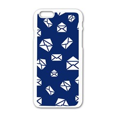 Envelope Letter Sand Blue White Masage Apple Iphone 6/6s White Enamel Case by Alisyart