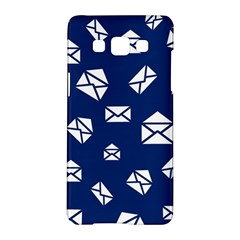 Envelope Letter Sand Blue White Masage Samsung Galaxy A5 Hardshell Case  by Alisyart