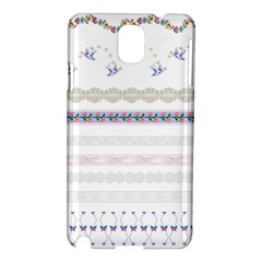 Bird Fly Butterfly Flower Floral Rose Blue Red Pink Samsung Galaxy Note 3 N9005 Hardshell Case by Alisyart
