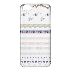 Bird Fly Butterfly Flower Floral Rose Blue Red Pink Apple Iphone 5c Hardshell Case by Alisyart