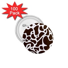 Dalmantion Skin Cow Brown White 1 75  Buttons (100 Pack)