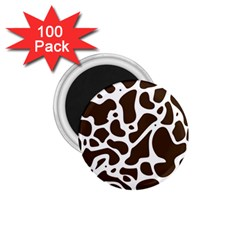 Dalmantion Skin Cow Brown White 1 75  Magnets (100 Pack)  by Alisyart