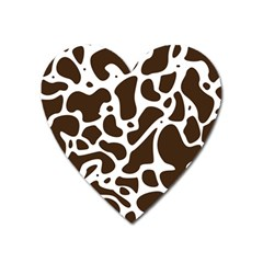 Dalmantion Skin Cow Brown White Heart Magnet by Alisyart