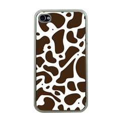Dalmantion Skin Cow Brown White Apple Iphone 4 Case (clear)