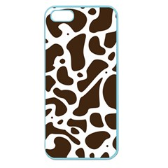 Dalmantion Skin Cow Brown White Apple Seamless Iphone 5 Case (color)