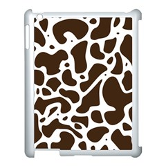 Dalmantion Skin Cow Brown White Apple Ipad 3/4 Case (white)