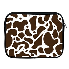 Dalmantion Skin Cow Brown White Apple Ipad 2/3/4 Zipper Cases by Alisyart