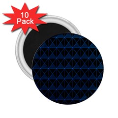 Colored Line Light Triangle Plaid Blue Black 2 25  Magnets (10 Pack)  by Alisyart