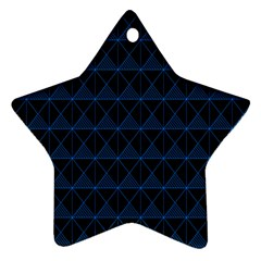 Colored Line Light Triangle Plaid Blue Black Star Ornament (two Sides) by Alisyart