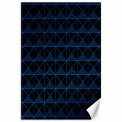 Colored Line Light Triangle Plaid Blue Black Canvas 12  X 18   by Alisyart