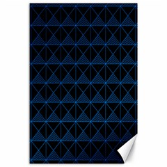 Colored Line Light Triangle Plaid Blue Black Canvas 24  X 36  by Alisyart