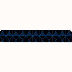 Colored Line Light Triangle Plaid Blue Black Small Bar Mats by Alisyart