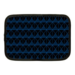 Colored Line Light Triangle Plaid Blue Black Netbook Case (medium)