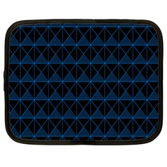 Colored Line Light Triangle Plaid Blue Black Netbook Case (large) by Alisyart