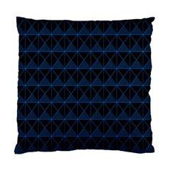 Colored Line Light Triangle Plaid Blue Black Standard Cushion Case (two Sides) by Alisyart