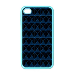 Colored Line Light Triangle Plaid Blue Black Apple Iphone 4 Case (color) by Alisyart