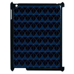 Colored Line Light Triangle Plaid Blue Black Apple Ipad 2 Case (black) by Alisyart