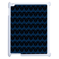 Colored Line Light Triangle Plaid Blue Black Apple Ipad 2 Case (white) by Alisyart