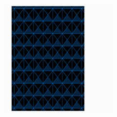 Colored Line Light Triangle Plaid Blue Black Small Garden Flag (two Sides)