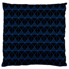 Colored Line Light Triangle Plaid Blue Black Large Cushion Case (one Side) by Alisyart