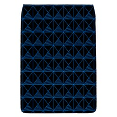 Colored Line Light Triangle Plaid Blue Black Flap Covers (l)  by Alisyart
