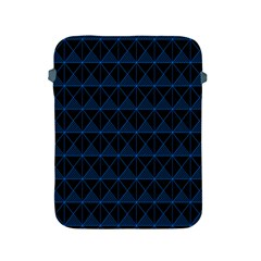 Colored Line Light Triangle Plaid Blue Black Apple Ipad 2/3/4 Protective Soft Cases by Alisyart