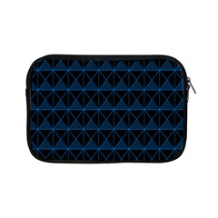 Colored Line Light Triangle Plaid Blue Black Apple Ipad Mini Zipper Cases by Alisyart