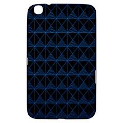 Colored Line Light Triangle Plaid Blue Black Samsung Galaxy Tab 3 (8 ) T3100 Hardshell Case  by Alisyart