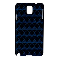Colored Line Light Triangle Plaid Blue Black Samsung Galaxy Note 3 N9005 Hardshell Case by Alisyart