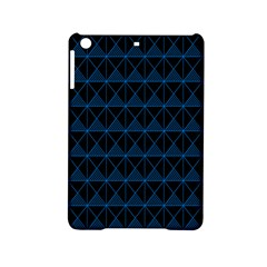 Colored Line Light Triangle Plaid Blue Black Ipad Mini 2 Hardshell Cases by Alisyart