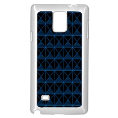 Colored Line Light Triangle Plaid Blue Black Samsung Galaxy Note 4 Case (white) by Alisyart