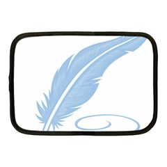 Feather Pen Blue Light Netbook Case (medium)  by Alisyart