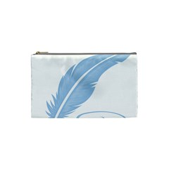 Feather Pen Blue Light Cosmetic Bag (small)