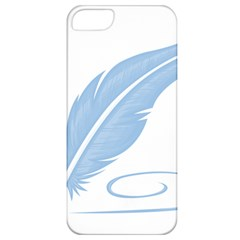Feather Pen Blue Light Apple Iphone 5 Classic Hardshell Case