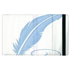 Feather Pen Blue Light Apple Ipad 3/4 Flip Case by Alisyart