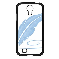 Feather Pen Blue Light Samsung Galaxy S4 I9500/ I9505 Case (black) by Alisyart