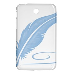 Feather Pen Blue Light Samsung Galaxy Tab 3 (7 ) P3200 Hardshell Case  by Alisyart