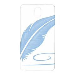 Feather Pen Blue Light Samsung Galaxy Note 3 N9005 Hardshell Back Case by Alisyart