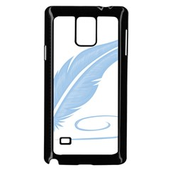 Feather Pen Blue Light Samsung Galaxy Note 4 Case (black) by Alisyart