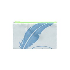 Feather Pen Blue Light Cosmetic Bag (xs)