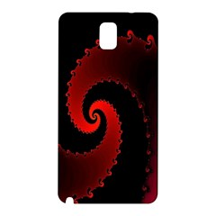 Red Fractal Spiral Samsung Galaxy Note 3 N9005 Hardshell Back Case by Simbadda