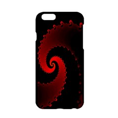 Red Fractal Spiral Apple Iphone 6/6s Hardshell Case by Simbadda