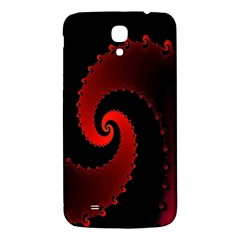 Red Fractal Spiral Samsung Galaxy Mega I9200 Hardshell Back Case by Simbadda