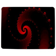 Red Fractal Spiral Jigsaw Puzzle Photo Stand (rectangular) by Simbadda