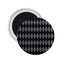 Chevron Wave Line Grey Black Triangle 2 25  Magnets by Alisyart