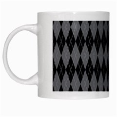 Chevron Wave Line Grey Black Triangle White Mugs by Alisyart