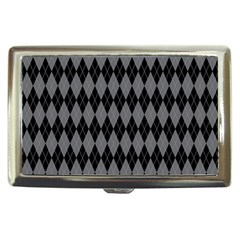 Chevron Wave Line Grey Black Triangle Cigarette Money Cases by Alisyart