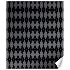 Chevron Wave Line Grey Black Triangle Canvas 20  X 24   by Alisyart